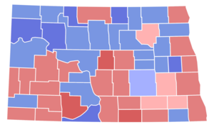 United States Senate special election in North Dakota, 1960 - Image: North Dakota Special Senate Election Results by County, 1960