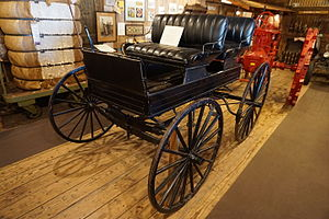 Surrey (carriage) - A 1909 Studebaker surrey on display at the Northeast Texas Rural Heritage Center and Museum in August 2015