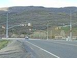 Northeast at the US-40 US-189 & SR-32 junction, Apr 16.jpg