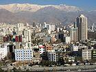 צפון העיר טהראן והרי זרגוס ברקע