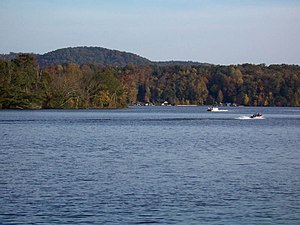 Lake Tillery - Image: Northern portion of Lake Tillery
