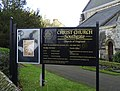 Notice Board, Christ Church, London N14 - geograph.org.uk - 1080072.jpg