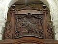 Noyon (60), cathédrale Notre-Dame, chœur, 1ère travée, clôture côté nord, panneau sculpté.jpg