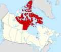 Nunavut highlighted in red in Canada.png