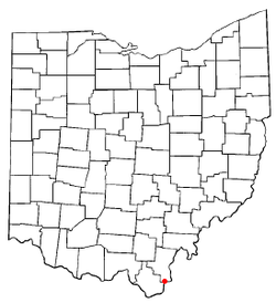Location of Crown City, Ohio