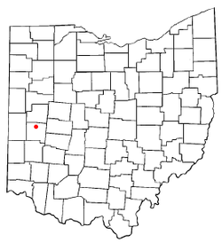 Location of Piqua, Ohio