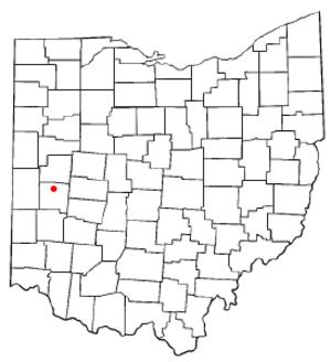 Piqua, Ohio - Image: OH Map doton Piqua