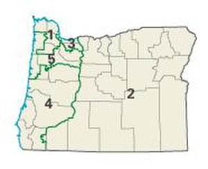 Oregon state elections, 2006 - Image: OR districts 108