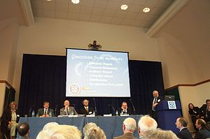 History of the cooperative movement - An annual general meeting of a retail co-operative in England, 2005.