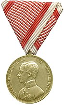 Obverse of the Gold Medal for Courage (Austria-Hungary, 1849-1859, Franz Joseph I).jpg