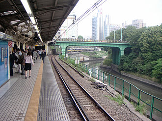 Kanda River - The Kanda River at Ochanomizu Station. The Chūō Line runs along the river
