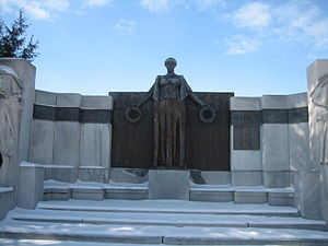 The Soldiers' Monument (Oregon, Illinois) - Lorado Taft sculpted the central female figure in bronze.