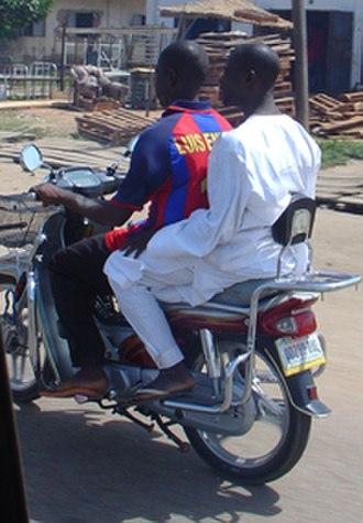 Okada (motorcycle taxi) - Okada in Kano, Nigeria