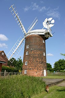 Old Buckenham Windmill building in Breckland District, United Kingdom