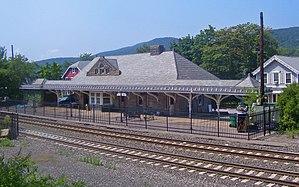 Garrison Landing Historic District - The 1892-built train station, now the Philipstown Depot Theatre