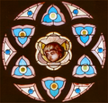 Old St Peters Church rose window - The Dalles Oregon.png