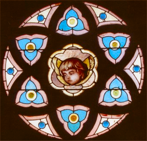 Povey Brothers Studio - Povey Brothers rose window in Old St. Peter's Landmark, The Dalles, Oregon