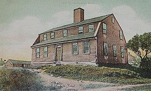 Battle of Machias - The Burnham Tavern in a 1911 postcard