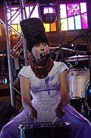 Olena Tsibulska (DakhaBrakha) (Haldern Pop 2013) IMGP6637 smial wp.jpg