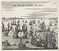 Ondergang van de Spaanse Armada, 1588 De Spaensche Vloot (titel op object), RP-P-OB-79.959.jpg