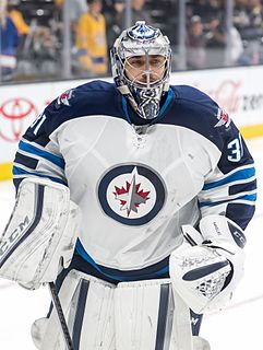 Ondřej Pavelec Czech ice hockey player