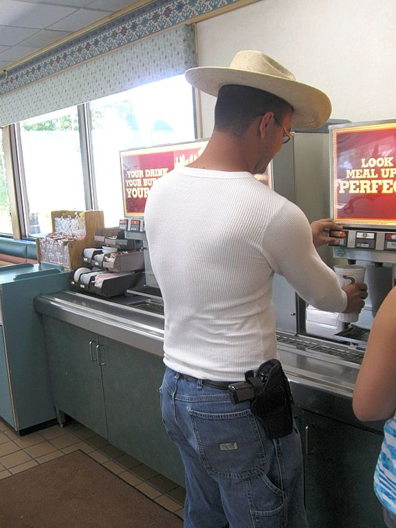 Open carry fast food restaurant