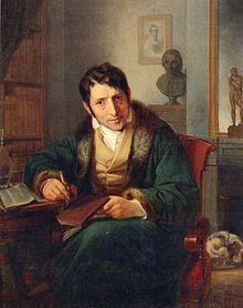 Ludwig Börne, Gemälde von Moritz Oppenheim, Öl auf Leinwand (1827) (Quelle: Wikimedia)