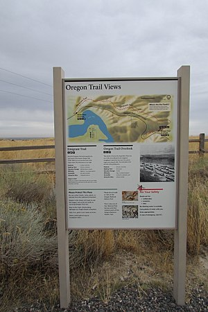 Oregon Trail Wayside in Hagerman Fossil Beds National Monument
