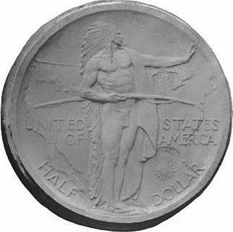 Oregon Trail Memorial half dollar - Laura Fraser's plaster models