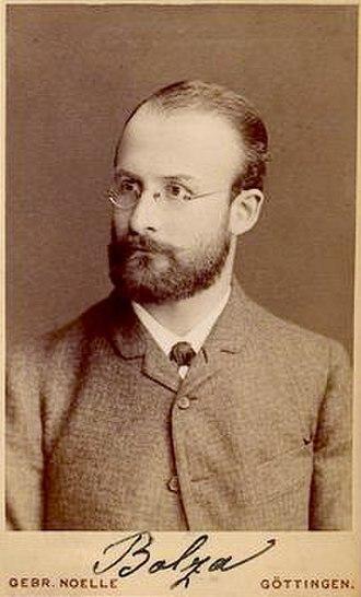 Oskar Bolza - Oskar Bolza (1857-1942)