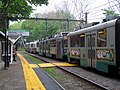 Outbound train at Beaconsfield station, May 2012.JPG