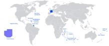 Situation de la France dans le monde (Location on the world map)
