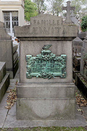 Gustaw Lewita - Gustaw Lewita's grave at the Père-Lachaise Cemetery in Paris.