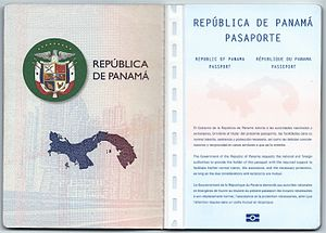 Panamanian passport - First and second page of a Panama biometric passport