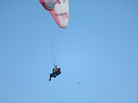 Paragliding with instructor over Lake Sils St Moritz (approx 3000 metres) 2018 PARAGLIDING2019.jpg