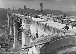Construction of the Prince Edward Viaduct.