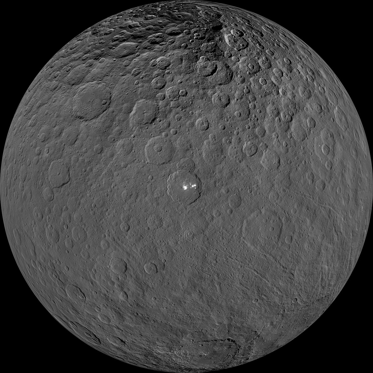 High-resolution view of Ceres taken during its Low-Altitude Mapping Orbit PIA21906-Ceres-DwarfPlanet-HighResolution-Dawn-20170920.jpg