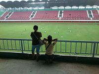 PSS Sleman fans at Maguwoharjo Stadium.jpeg