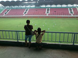 Indonesia national football team - Image: PSS Sleman fans at Maguwoharjo Stadium