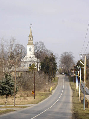 Pačir - Main street and the Catholic Church