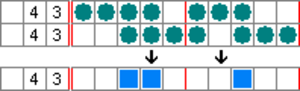 Nonogram - Image: Paint by numbers Solving Example 2