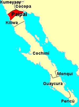 Paipai people - Image: Paipai map