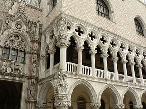 The Seven Lamps of Architecture - Polychrome brickwork and sculptural decoration in the Doge's Palace, Venice