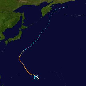 Typhoon Pamela (1976) - Storm path