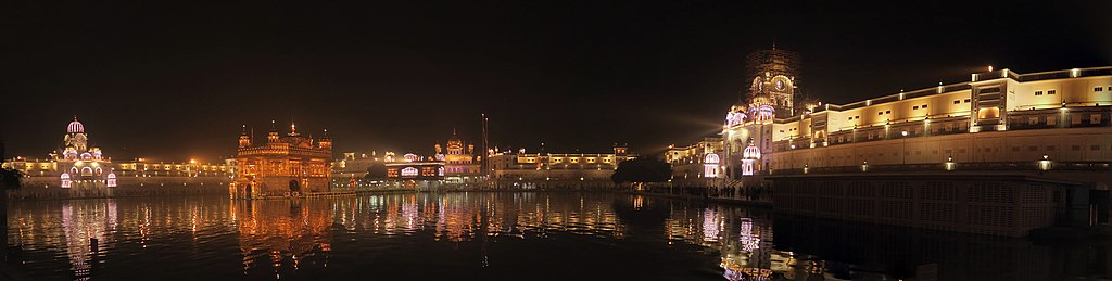 Panama view of Amritsar golden temple
