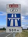 Panneau Entrée n°1 Autoroute A406 Route Madeleine Crottet 2.jpg