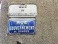 Panneaux Rue du gouvernement des Dombes (Trévoux).JPG