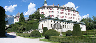 Ambras Castle - Image: Panorama ambrass 2