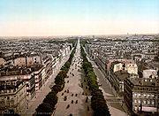 Η Avenue des Champs-Élysées στο Παρίσι το 1900