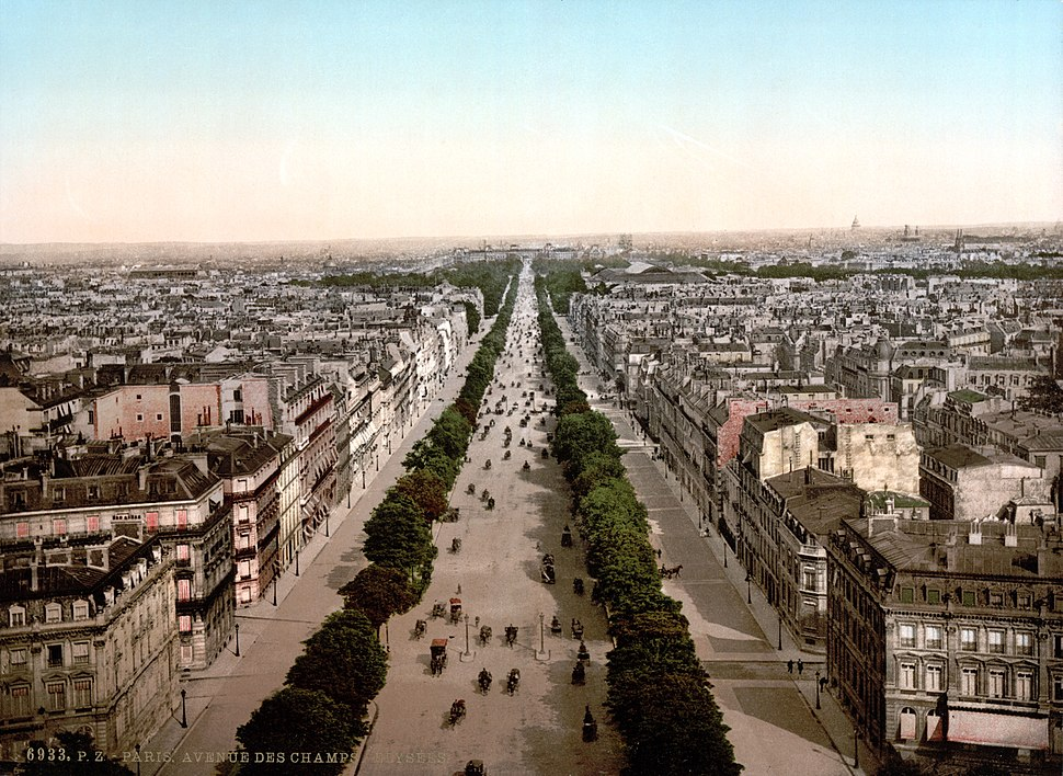 Paris Avenue des Champs-Élysées um 1900
